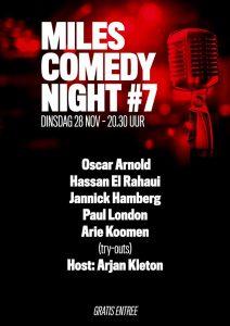 Miles Comedy Night #7 @ Café Miles | Amersfoort | Utrecht | Nederland