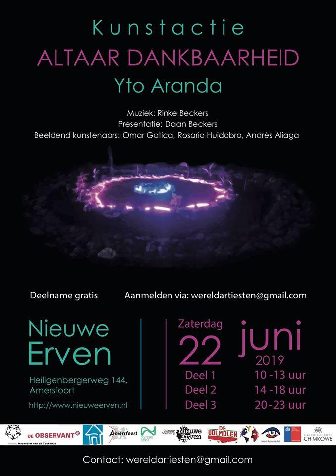 Yto Aranda: Kunstactie Altaar Dankbaarheid @ Nieuwe Erven