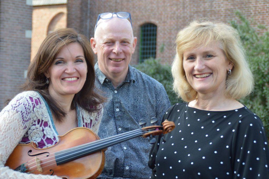 De drie initiatiefnemers van het Festival van de Viool dat op zondag 3 november in Amersfoort plaatsvindt.