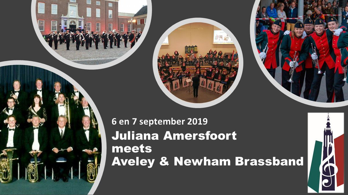 The Aveley and Newham Brassband / Concertorkest Juliana @ Eemplein