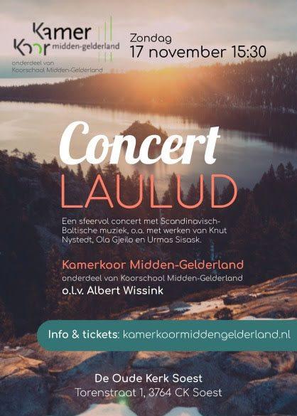 Kamerkoor Midden-Gelderland : Concert Laulud @ De Oude Kerk