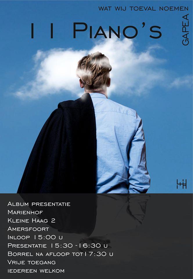 Album presentatie: 11 piano's @ Mariënhof