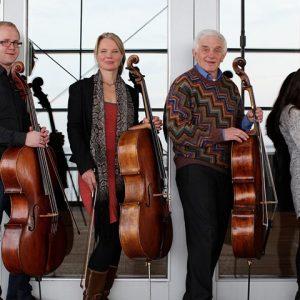 Cellokwartet Ferschtman Dmitry Ferschtman, Larissa Groeneveld, Ketevan Roinishvili en Willem Stam @ St Aegtenkapel