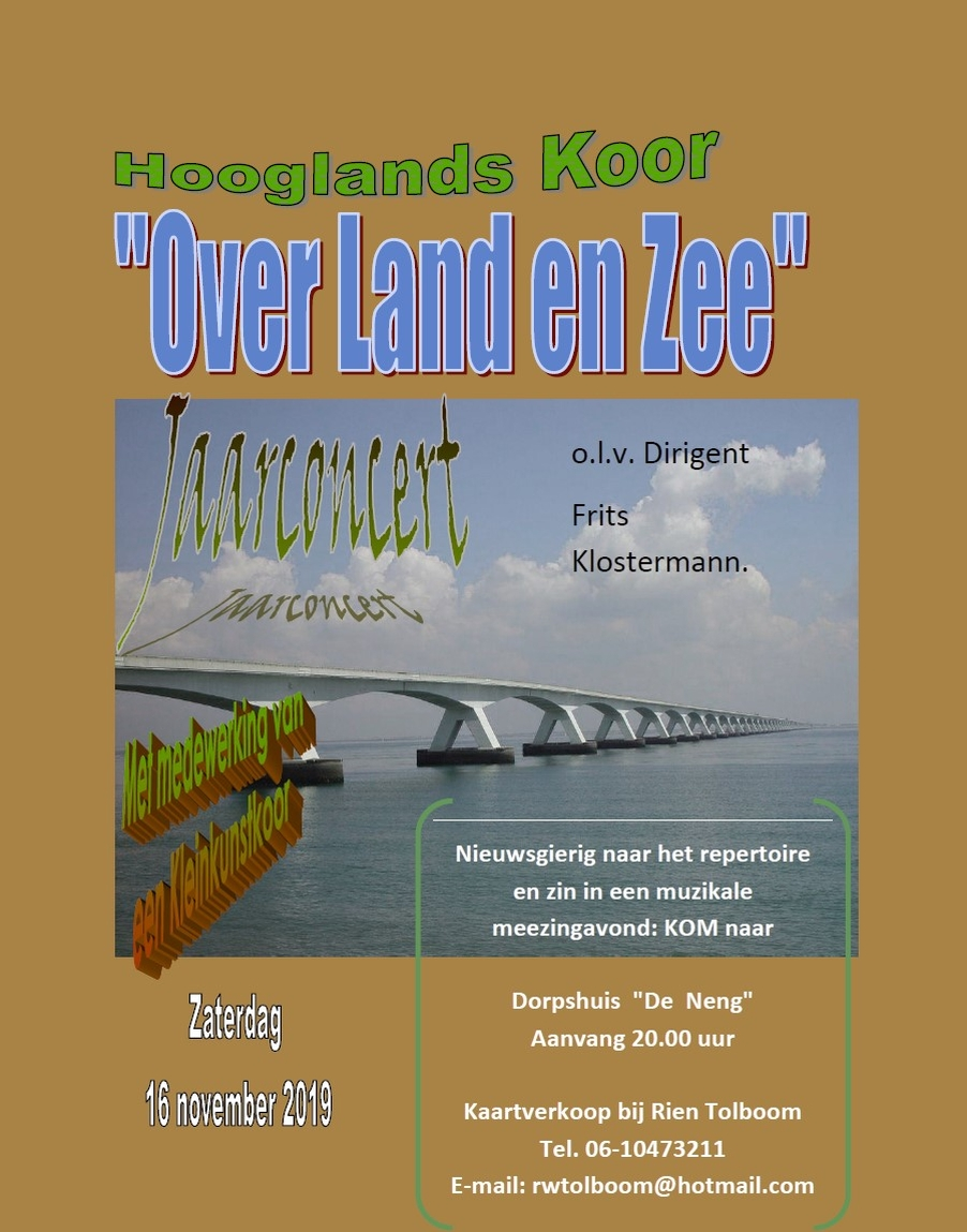 Hooglands Koor - Over land en zee @ De Neng