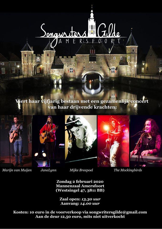 Songwriters Gilde Amersfoort 5 jaar! @ De Mannenzaal