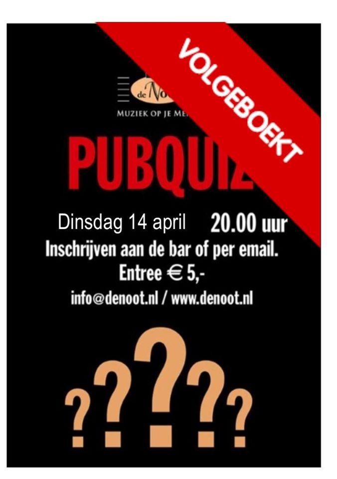 Pubquiz -uitverkocht- @ Café de Noot