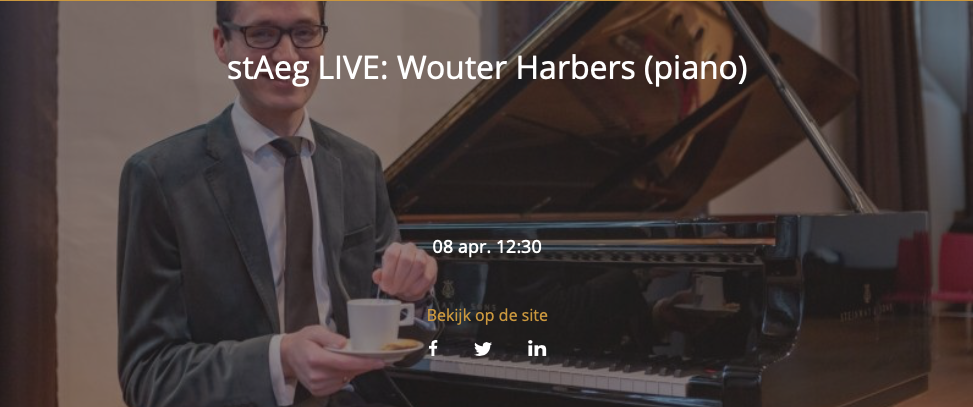 stAeg LIVE: Wouter Harbers (piano)