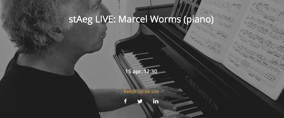 stAeg LIVE: Marcel Worms (piano) @ Aegtenkapel