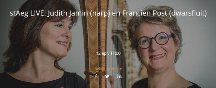 stAeg LIVE: Judith Jamin (harp) en Francien Post (dwarsfluit) @ Aegtenkapel