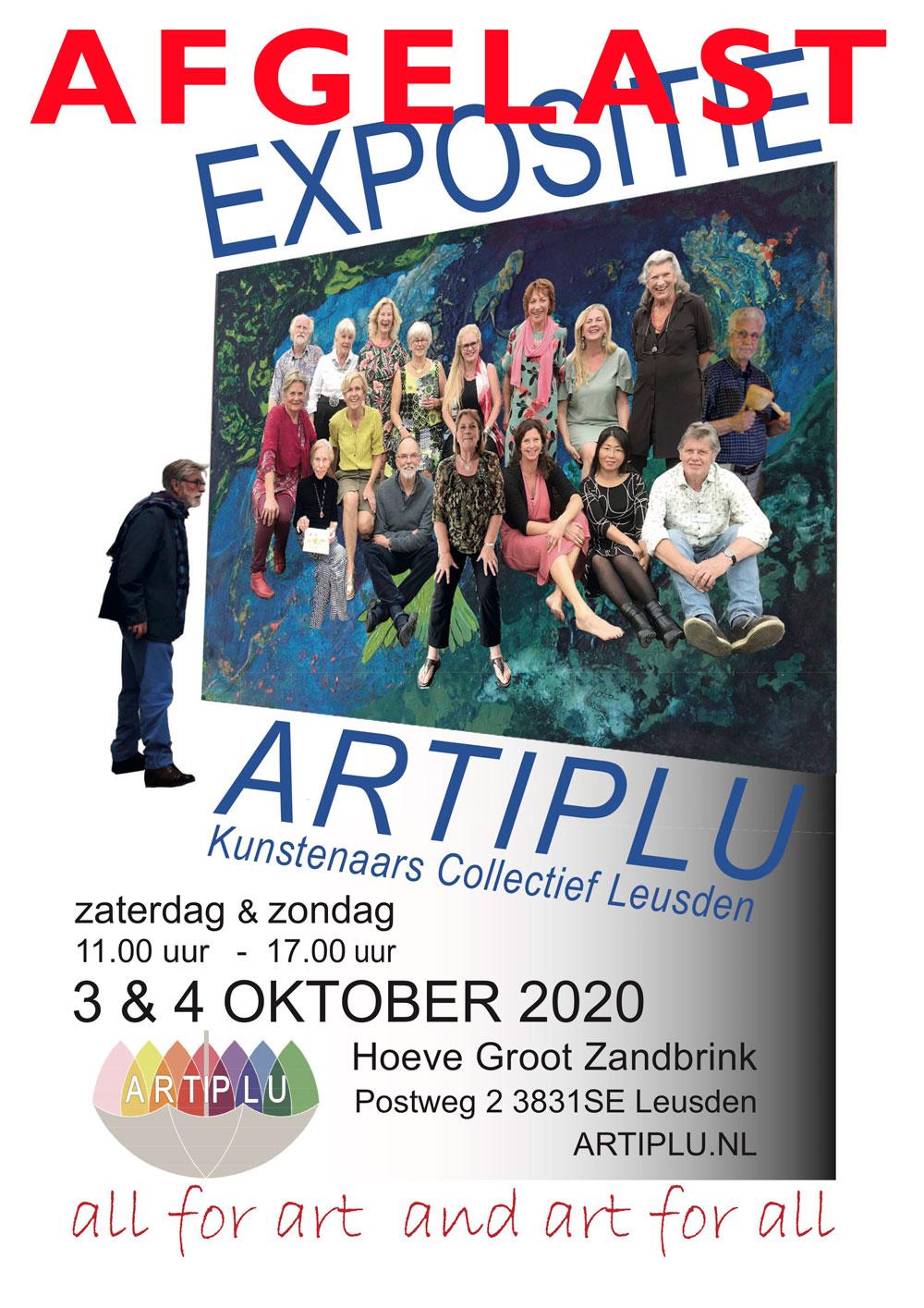 Artiplu groepsexpositie -afgelast- @ Hoeve Groot Zandbrink