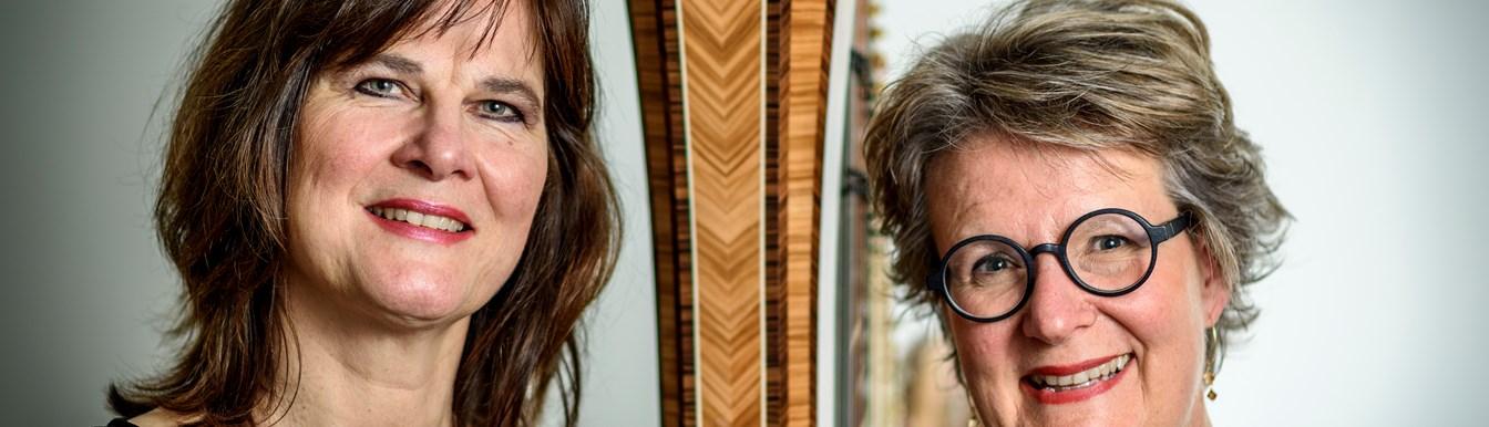 Francien Post, dwarsfluit en Judith Jamin, harp @ St. Aegtenkapel
